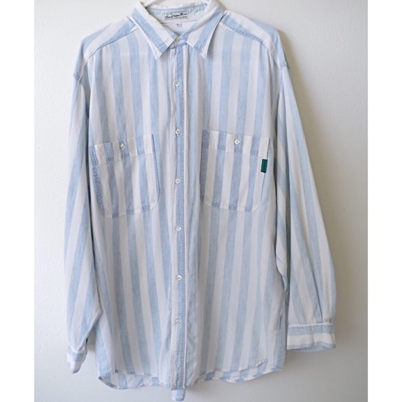 ae3fb350ab Guess Other - VINTAGE 80 s GUESS STRIPED BUTTON UP LONG SLEEVE